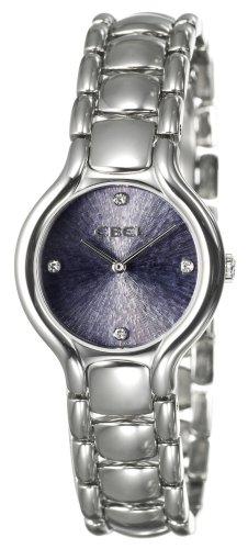 Ebel 9157421-3750 - Reloj analógico de cuarzo unisex con correa de acero inoxidable, color plateado