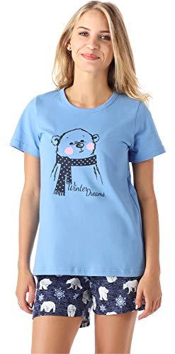 Merry Style Mädchen Jugend Schlafanzug MS10-194 (Blau Bär, 176)