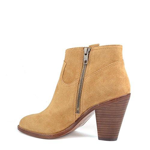 Ash Chaussures Ivana Camel Boots a Talon en Daim Femme Camel