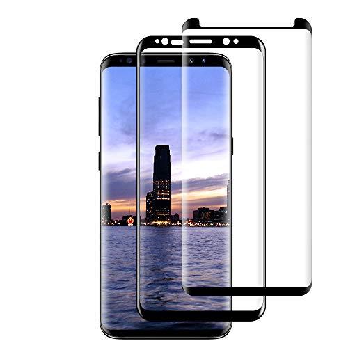 Samsung Galaxy S8Protector de Pantalla, Samsung Galaxy S8 Cristal Templado Protector de Pantalla (2 Piezas) 9H Dureza, HD Vidrio Templado Protector para Samsung Galaxy S8-Negro