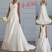 Mujer vestido novia,Sonnena ❄ retro princesa vestido de novia baile fiesta para mujer sin