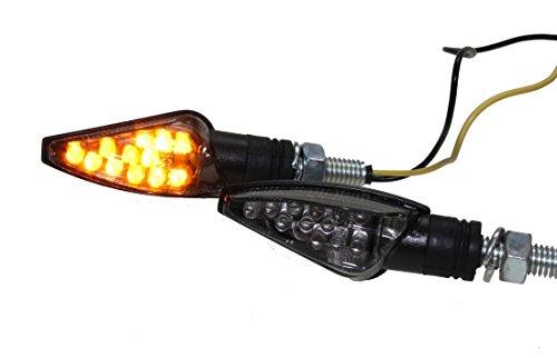 LED Mini Blinker TEO rauchgrau getönt (smoke grey) für Motorrad Roller mit E-Nummer