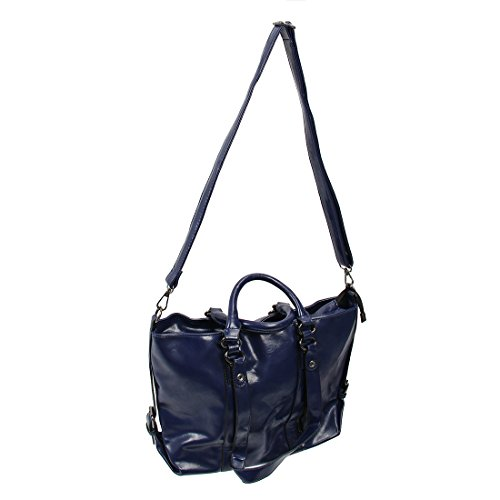 TOOGOO(R) Frauen Kuriertaschen neue Frauen Handtasche PU Mode Maedchen Tasche tragbare Schulter Taschen Maedchen Kreuz Koerper Taschen -Braun Dunkelblau