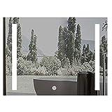 31,5 Zoll X 23,6 Zoll Beleuchteter LED Badezimmer Spiegel Rechteck Explosionssicherer Wandspiegel Mit Heller Demister-Auflage Beleuchtet BerüHrungssteuerung