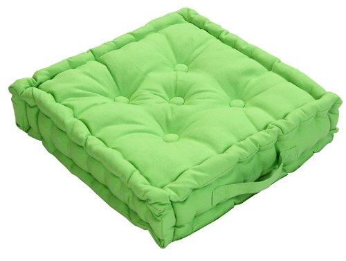 Homescapes Coussin de Chaise de Couleur Vert Fait en 100% Coton de 40x40 cm pour Chaise de Salon et Chaise de Jardin