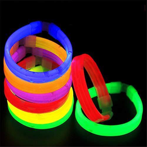 Breite Molding (Yishelle-p Knicklichter Leuchtstäbe 10PSC Fluorescent Triple Einmaliges Leuchtendes Armband Breites Armband Licht Stick Konzert Armband - Zufällige Farbe Für Kindergeburtstagsfeier)