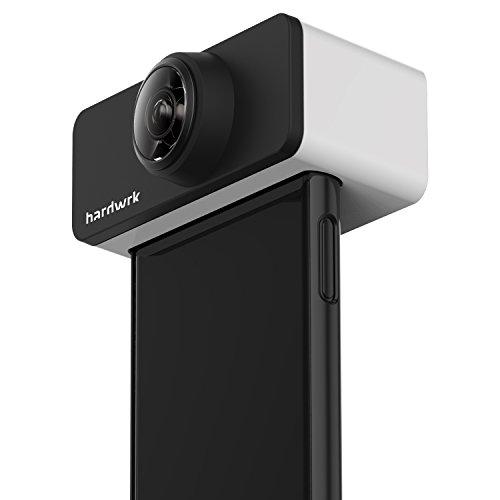 hardwrk PanoClip Accesorio de la Lente para iPhone X de Apple como una Cámara de 360 Grados - Lente acoplable para Imágenes de 360 Grados Accesorio Clip para Fotos