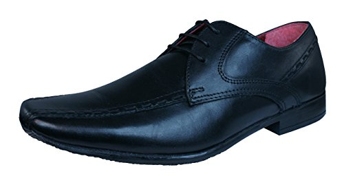 Red Tape Rowley hommes en cuir Loafers / Chaussures Black