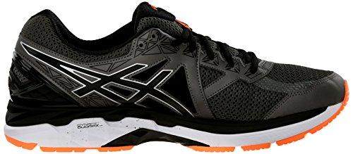 Asics Mens GT-2000 4 Running Shoe Carbon/Black/Hot Orange