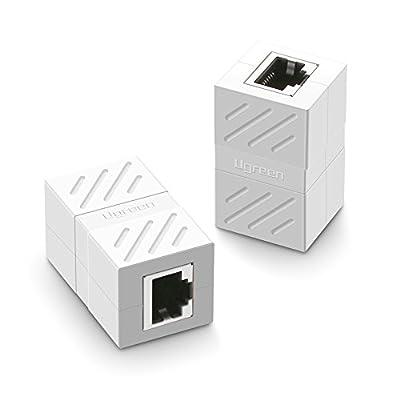UGREEN Lot de 2 Cat 7 Coupleur RJ45 Ethernet Connecteur Réseau Adaptateur Femelle à Femelle Blindé 8P8C de Ugreen Group Limited