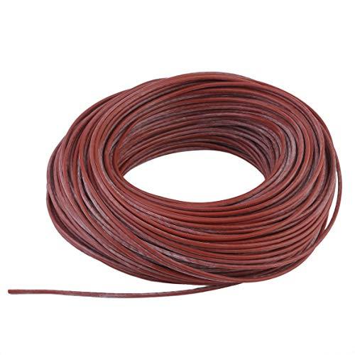JohnJohnsen Tragbare Infrarotstrahlungsheizung Kabel Silikon Kohlefaser Draht Elektrische Heizung Hotline Für Fußbodenheizung (rot) (Fußbodenheizung-kabel)