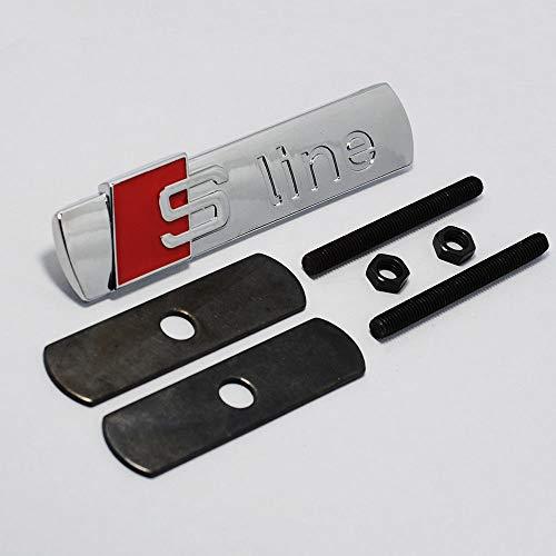 Chrom S Line Front Grill Bonnet Abzeichen Aufkleber Emblem Für A1 A2 A3 A4 A5 A6 A8 TT S3 S4 S4 S5 S6 S7 S8 -