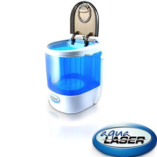 Aqua Laser Mini Lavadora - Hasta 2,5 KGs de Ropa - Con Temporizador - Ahorro de espacio y compacto