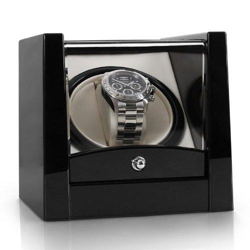Klarstein-8PT1S-Uhrenbeweger-fr-1-Uhr-Automatik-Uhren-Beweger-geringe-Stellflche-Linkslauf-Rechtslauf-leise-Sichtfenster-schwarz
