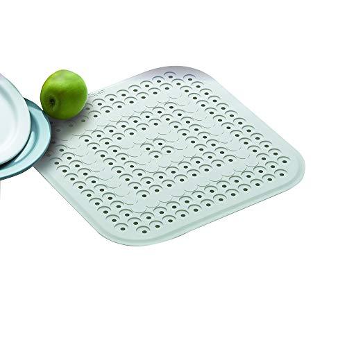 Rayen, Protège évier et vaissellle, Ecru 32 x 32 cm , Blanc