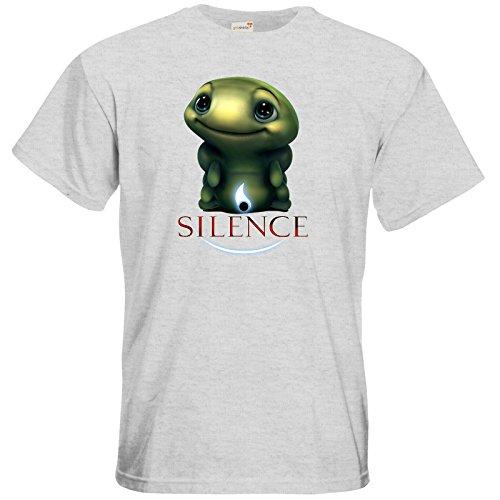 getshirts - Daedalic Official Merchandise - T-Shirt - Silence - Spot 1 Ash