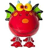 Huchas piggy bank decorativa con forma de dinosaurio rojo para niños y niñas