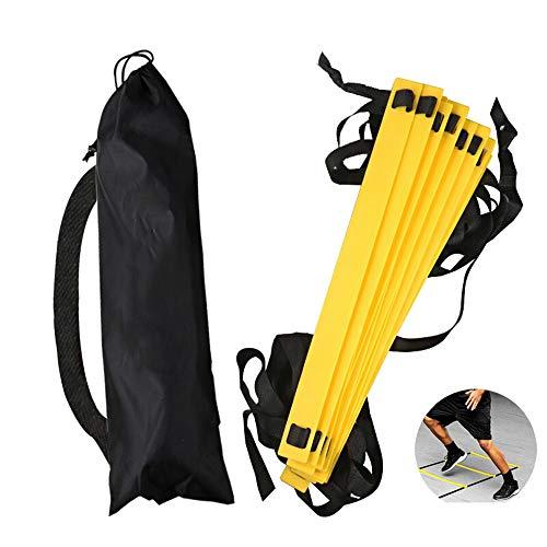 WJQ Speed   Training Rope Ladder - Agility Ladders, 6M12 Ladder New Pp Material Langlebiges und stabiles Körpertraining - Sehr geeignet für Indoor- und Outdoor-Training (Füße-fußball-trainer Schnelle)