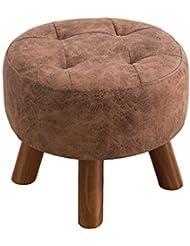 Uus Massivholz-Schemel - Kleiner Schemel-Mode-kreativer Sofa-Schemel-Couchtisch-tragende Schuhe, Die Pier Dressing Footstool Shoes Bench Sitzen Schemel (Farbe : Light Brown)