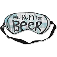 Will Run For Beer 99% Eyeshade Blinders Sleeping Eye Patch Eye Mask Blindfold For Travel Insomnia Meditation preisvergleich bei billige-tabletten.eu