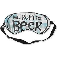 Will Run For Beer 99% Eyeshade Blinders Sleeping Eye Patch Eye Mask Blindfold For Travel Insomnia Meditation preisvergleich bei billige-tabletten.eu