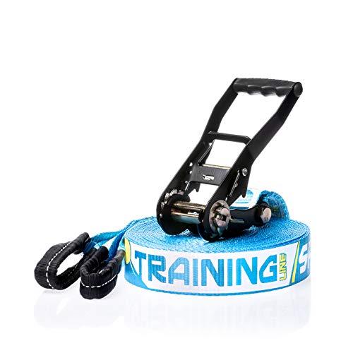 SPIDER SLACKLINE 14181 Slackline kit - Training line 18, Azzurro, 18 m