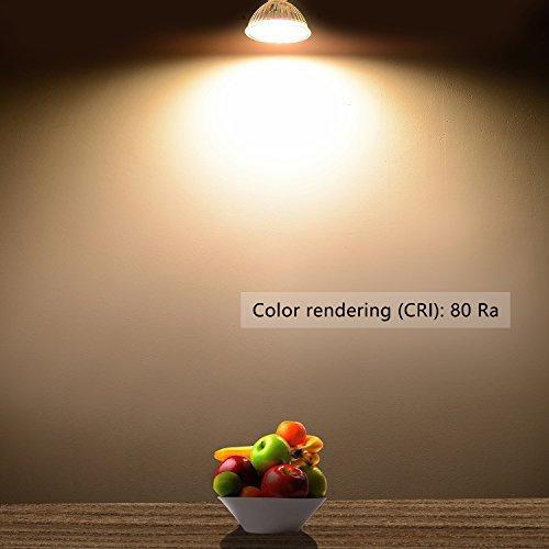 Liqoo® 6 x 5W MR16 AC/DC 12V Bombilla LED GU5.3 GX5.3 Blanco Cálido 2800K Hay que Conectar Transformador de 12V Lámpara Bajo Consumo Sustituye Halógena 35W