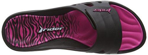 Rider Key Viii Fem Ff, Sandales ouvertes femme Multicolore - Mehrfarbig (black pink 8018)