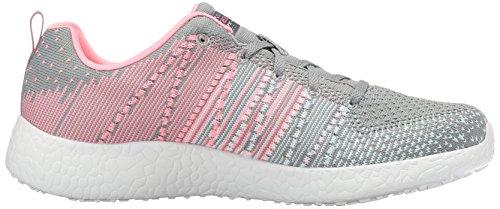 Skechersburst Ellipse - Chaussures De Plein Air Pour Femme Gris / Rose