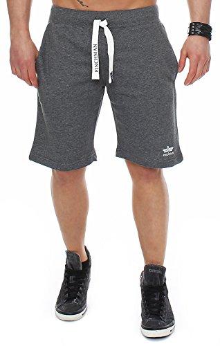 Finchman 99Q4 Herren Cotton Sweat Short Kurze Hose Bermuda Dunkelgrau L (Shorts Herren Sweat)
