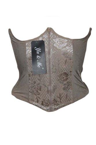 SECRETDRESSING - Corset victorien - Gaine serre taille ventre plat burlesque goth couleur chair - taille du S au XL, Beige, Large