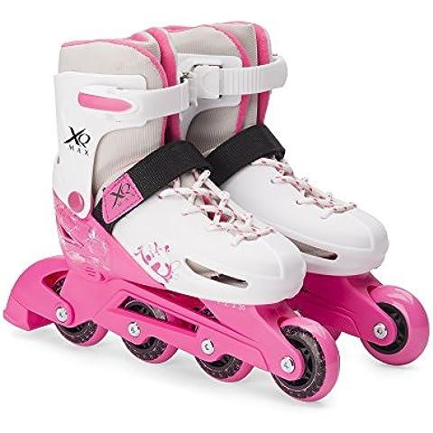 XQ Max Chica Roller Blades–Patines en línea para niños ajustable tamaño Pro Skating 3Tamaños