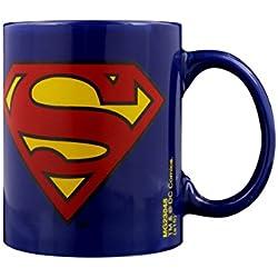 """DC Comics taza de cerámica """"Superman"""" Logo, Multi-color"""