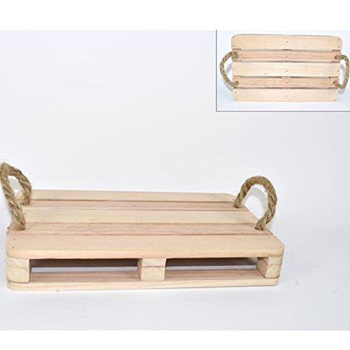 Aurora store.it pedana in legno con manici corda 30x40 cm mini pallet presentazione aperitivo tagliere salumi