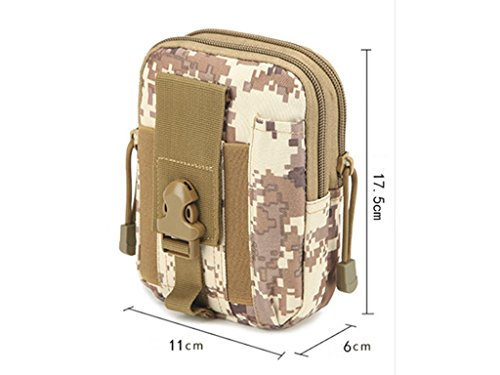 Militare molle Tactical waist bag in sacchetto del telefono Outdoor Wilderness camping hiking bag, Camouflage#1 Camouflage#6