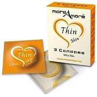 Soft Skin Kondomen von MOREAMORE Thin Skin–Pack von 3 preisvergleich bei billige-tabletten.eu
