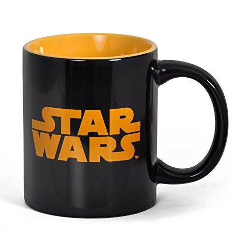 Preisvergleich Produktbild Star Wars - Episode 1-6 - Keramik Tasse Logo - Schwarz - toll und stabil verpackt in einer Geschenkbox!