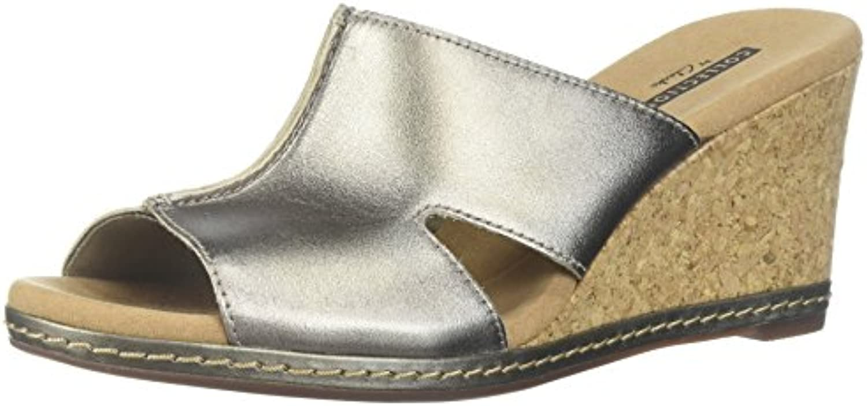 Clarks Wouomo Lafley Mio Platform, Pewter Metallic Leather, Leather, Leather, 11 Medium US   Reputazione affidabile  0df9fe