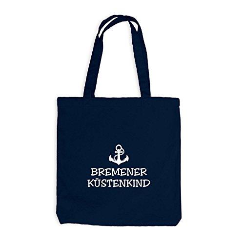 Jutebeutel - Bremer Küstenkind - Anker Schiffsanker Küste Maritim Bremen Navy
