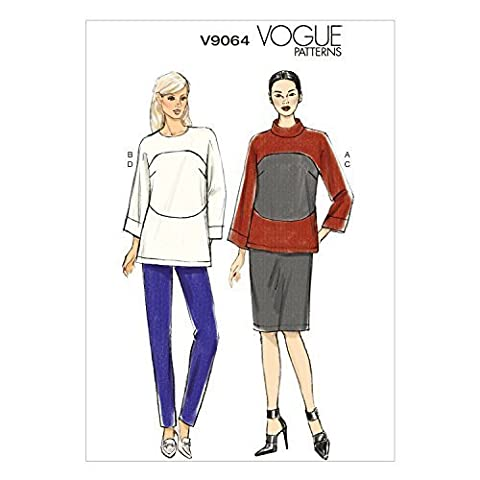 Vogue Patterns V9064 Misses' Top, Skirt and Pants Sewing Template, E5 (14-16-18-20-22) by McCall Pattern Company