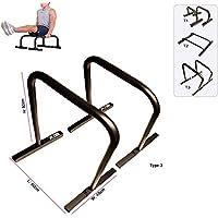 Xn8Sports Fitness Low Parallettes para Crossfit, Calistenia, gimnasia, peso soporte chapuzón Stands, negro