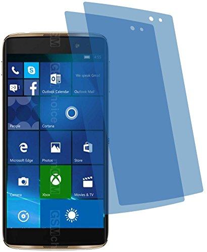 2X Crystal Clear klar Schutzfolie für Alcatel Idol 4 Pro Premium Bildschirmschutzfolie Displayschutzfolie Schutzhülle Bildschirmschutz Bildschirmfolie Folie