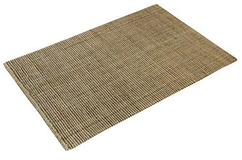 casa pura Jute Teppich Webteppich aus Naturfaser   Moderner Juteteppich   Natürliche Sisal Optik für Wohnzimmer, Esszimmer und Flur   Große Auswahl   Natur - 200x300 cm