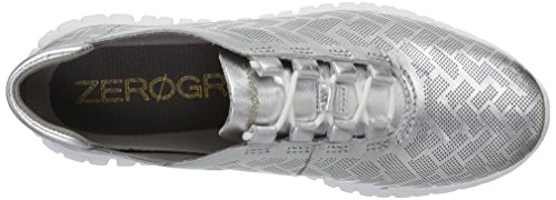 Cole Haan Frauen Oxfords Ch Argento Perforated Leather/Optic White