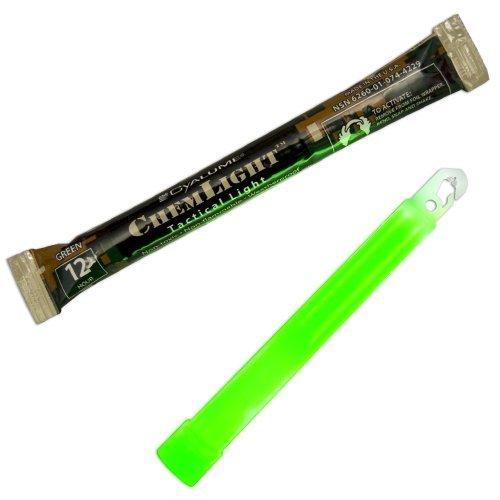 Cyalume chemischen chemlight Military Grade Light Sticks, Grün, 6lang, 12Stunden Dauer (10Stück), DIY Werkzeug
