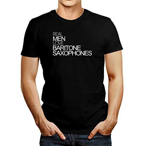 Idakoos Real Men Love Baritone Saxophones Bold T-Shirt 2XL