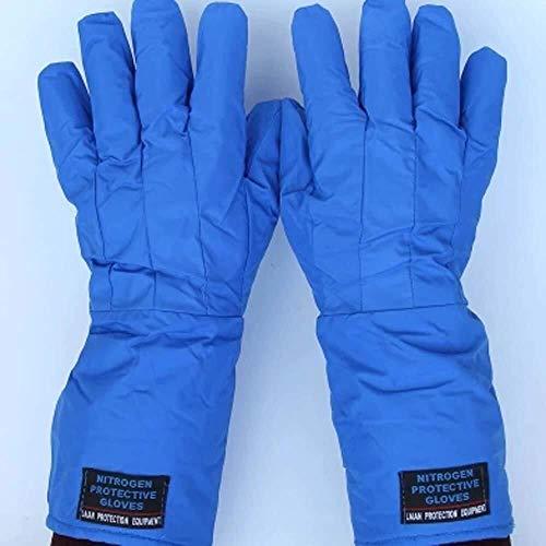 Schutzhandschuhe- Schutz Flüssiger Stickstoff Handschuhe Ultra-low Temperatur Winterhandschuhe Frostschutzhandschuhe / 15inches (Color : Blue) -