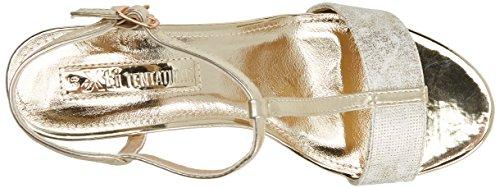 XTI 30681, Sandali con Chiusura a T Donna Oro (Gold)