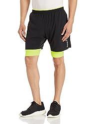 Reebok Mens Synthetic Shorts (4056562254012_AJ0336_X-Small_Black)