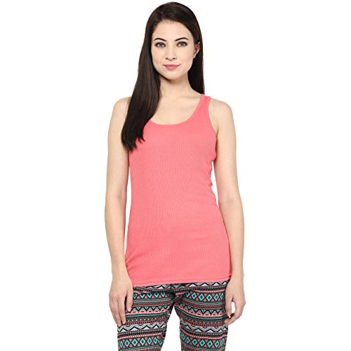 Ajile by Pantaloons Women's Casual Tank Top _Coral_L  available at amazon for Rs.149